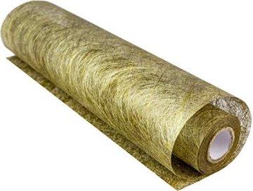 100% Mosel Tischläufer Metallic, in Gold (30 cm x 10 m), Tischband aus Polyester Vliesstoff, edle Tischdeko für Weihnachten & Hochzeiten, festliche Dekoration zu besonderen Anlässen - 1