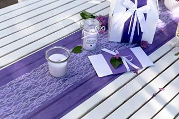 100% Mosel Tischläufer Spitze, in Reinweiß (15 cm x 20 m), zartes Tischband aus Spitze, edle Tischdeko für Hochzeit & Taufe, festliche Dekoration zu besonderen Anlässen - 2