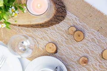 100% Mosel Tischläufer Spitze, in Reinweiß (15 cm x 20 m), zartes Tischband aus Spitze, edle Tischdeko für Hochzeit & Taufe, festliche Dekoration zu besonderen Anlässen - 6