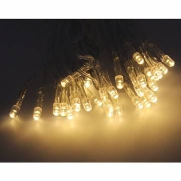 10er LED Batterlichterkette warmweiß Innen Lichterkette Beleuchtung Deko Zeitschaltuhr Timerfunktion Batteriebetrieb - 1