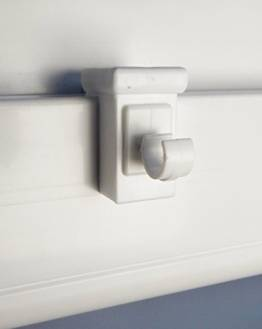 10x Fensterhaken Dekohaken Fensterclip für Fensterdekoration Weiß - Fensterdicke: 10-27mm - Ideal zum Einlegen von Gardinenstangen bis 10mm Durchmesser - 1