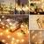 [120 LED] Lichterkette Kugel, 12M 8 Modi und Merk Funktion,lichterketten außen/innen mit Stecker, ideale party deko, kinderzimmer, balkon,weihnachtsbeleuchtung usw. (Warmweiß) - 2