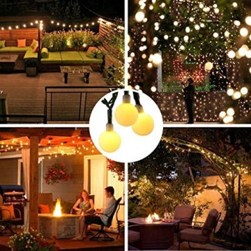 [120 LED] Lichterkette Kugel, 12M 8 Modi und Merk Funktion,lichterketten außen/innen mit Stecker, ideale party deko, kinderzimmer, balkon,weihnachtsbeleuchtung usw. (Warmweiß) - 7