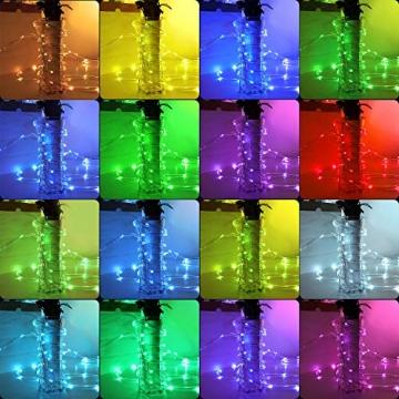 12m Bunt LED Lichtschlauch Außen,IP68 LED Wasserdicht Bunt Lichterschlauch,120er LED Lichterkette Innen Strombetrieben mit Fernbedienung&Timer,16 Farben 132 Modi LED Schlauch für Balkon Hochzeit Party - 2