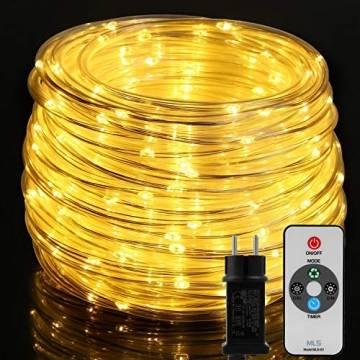 20M Lichterschlauch, OxyLED 300 LED Lichtschlauch IP65 Wasserfest, Lichterkette Strombetrieben mit EU-Stecker für Innen Außen Garten Weihnachten Fest Party Hochzeit Deko(Warmweiß) - 1