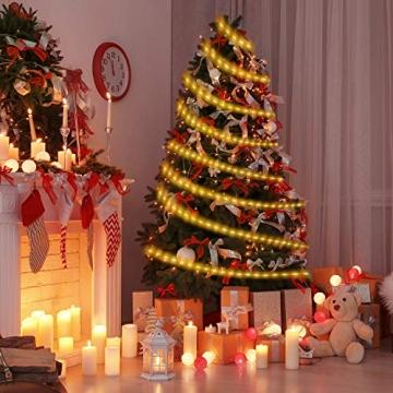 20M Lichterschlauch, OxyLED 300 LED Lichtschlauch IP65 Wasserfest, Lichterkette Strombetrieben mit EU-Stecker für Innen Außen Garten Weihnachten Fest Party Hochzeit Deko(Warmweiß) - 7