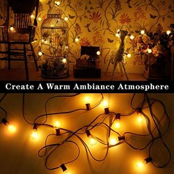 [26 LED Version] Lichterkette Außen,9 Meter 26 Glühbirnen OxyLED G40 LED Garten Lichterkette Terrasse außerhalb der Lichterkette,Wasserdichte Innen/Außen Lichterketten für Party,Hochzeit,Weihnachten - 3