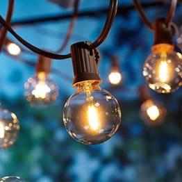 [26 LED Version] Lichterkette Außen,9 Meter 26 Glühbirnen OxyLED G40 LED Garten Lichterkette Terrasse außerhalb der Lichterkette,Wasserdichte Innen/Außen Lichterketten für Party,Hochzeit,Weihnachten - 1