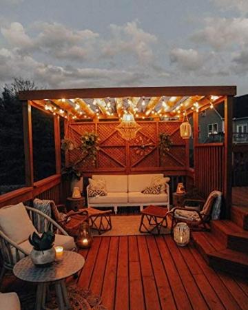 [26 LED Version] Lichterkette Außen,9 Meter 26 Glühbirnen OxyLED G40 LED Garten Lichterkette Terrasse außerhalb der Lichterkette,Wasserdichte Innen/Außen Lichterketten für Party,Hochzeit,Weihnachten - 6