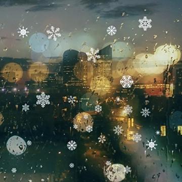 85 Fensterdeko Schneeflocken NICEXMAS Fensterbilder Schneeflocken(weiss) - Statisch Haftende PVC Aufkleber - 7