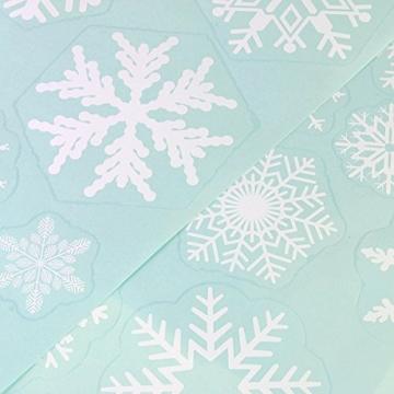 85 Fensterdeko Schneeflocken NICEXMAS Fensterbilder Schneeflocken(weiss) - Statisch Haftende PVC Aufkleber - 8