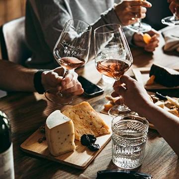 AMAVEL Rotweingläser, 2er Set Weingläser mit Gravur für Mama und Papa, Weinglas als Geschenkidee für Eltern, Füllmenge: 500 ml - 5