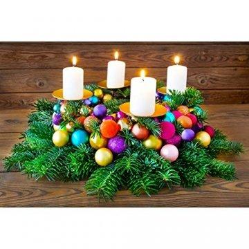 Annastore Kleine Baumkugeln aus Glas Ø 2 cm/2,5 cm/3 cm - Christbaumkugeln Baumschmuck Christbaumschmuck Weihnachtsbaumschmuck Weihnachtsbaumkugeln (2,5 cm, 24 Stück Silber (Glänzend)) - 2