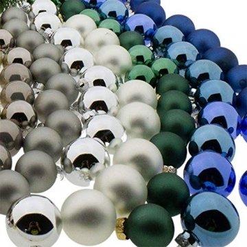 Annastore Kleine Baumkugeln aus Glas Ø 2 cm/2,5 cm/3 cm - Christbaumkugeln Baumschmuck Christbaumschmuck Weihnachtsbaumschmuck Weihnachtsbaumkugeln (2,5 cm, 24 Stück Silber (Glänzend)) - 6