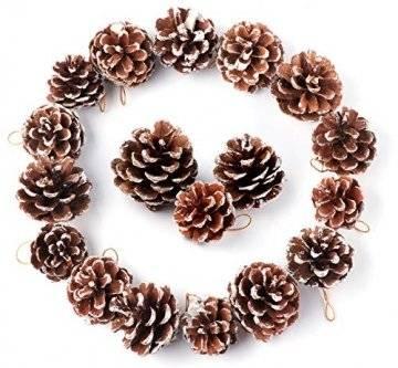 Anstore 30 Tannenzapfen KIeferzapfen Schwarzkiefern Zapfen Kiefernzapfen Tanne Naturzapfen Weihnachtsdeko Adventsdeko Pine Cones, 4-6 cm - 1