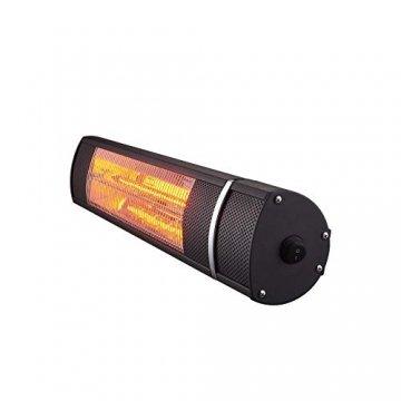 Arebos Infrarot Heizstrahler 2000 W | mit Fernbedienung | IP65 Schutzart | Low-Glare-Technologie | 3 Heizstufen - 4