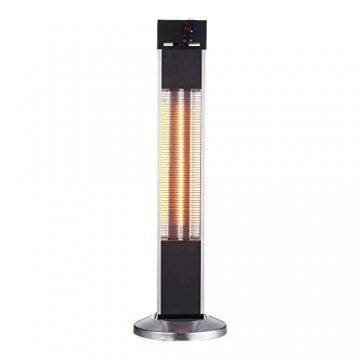 Arebos Infrarot Stand Heizstrahler 2000 W | mit Fernbedienung | IP34 Schutzart | Low-Glare-Technologie | 3 Heizstufen - 1