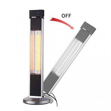 Arebos Infrarot Stand Heizstrahler 2000 W | mit Fernbedienung | IP34 Schutzart | Low-Glare-Technologie | 3 Heizstufen - 5