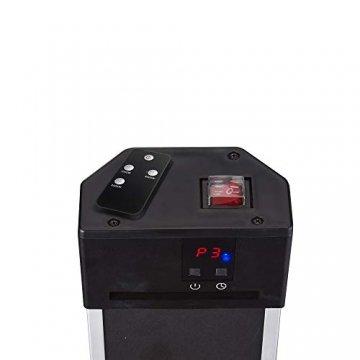 Arebos Infrarot Stand Heizstrahler 2000 W | mit Fernbedienung | IP34 Schutzart | Low-Glare-Technologie | 3 Heizstufen - 6