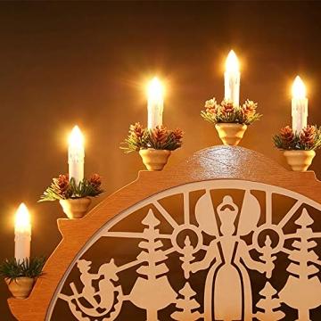 Aufun 30 Stück LED Weihnachtskerze Warmweiß Weinachten, Mini Kabellose Christbaumkerzen Flammenlose mit Fernbedienung und Batterien IP44 für Weihnachtsbaum, Hochzeit, Partys - 2
