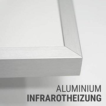 AUROM Infrarotheizung Sonplex – Elektroheizung Aluminium, Weiß, Heizpaneel für Wandmontage, elektrisch, 300 - 1100 Watt, neueste Infrarot Heiztechnik, IPX4 Nässe-Schutz, 2 J. Garantie (550 Watt) - 2