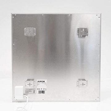 AUROM Infrarotheizung Sonplex – Elektroheizung Aluminium, Weiß, Heizpaneel für Wandmontage, elektrisch, 300 - 1100 Watt, neueste Infrarot Heiztechnik, IPX4 Nässe-Schutz, 2 J. Garantie (550 Watt) - 6