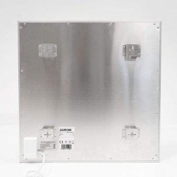 AUROM Infrarotheizung Sonplex – Elektroheizung Aluminium, Weiß, Heizpaneel für Wandmontage, elektrisch, 300 - 1100 Watt, neueste Infrarot Heiztechnik, IPX4 Nässe-Schutz, 2 J. Garantie (550 Watt) - 7