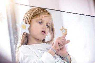 AVERY Zweckform Art. 52952 Fensterbilder Weihnachten Sterne gold/silber (selbstklebende Fenstersticker, Weihnachtsdeko für Fenster, Fensterfolie ablösbar, beglimmert) 1 Bogen mit 6 Fensteraufklebern - 6