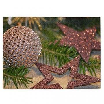 Baumzweig Winterstern Deko Essen Braun Weihnachten Tanne Glitzer Adventsdeko 520 Teile Bildpuzzles Spaß Kreative Geschenke für Kinder Erwachsene zum Geburtstag Weihnachten - 1