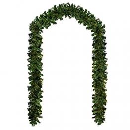 Baunsal GmbH & Co.KG Weihnachtsgirlande Tannengirlande Girlande grün 10 m - 1