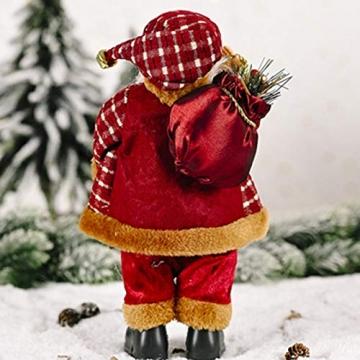 beeyuk Weihnachtsmann Dekoration Deko Desktop Santa Claus Figur Tragbare Lebensechte Santa Puppe Figur Perfekte Ornament - 4