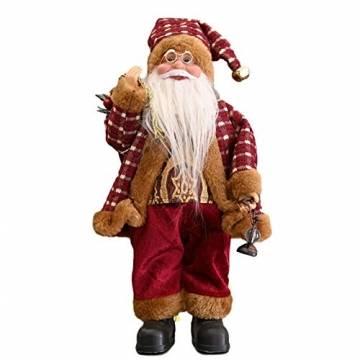 beeyuk Weihnachtsmann Dekoration Deko Desktop Santa Claus Figur Tragbare Lebensechte Santa Puppe Figur Perfekte Ornament - 1