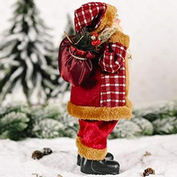 beeyuk Weihnachtsmann Dekoration Deko Desktop Santa Claus Figur Tragbare Lebensechte Santa Puppe Figur Perfekte Ornament - 5