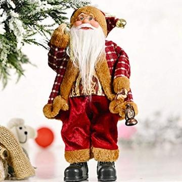 beeyuk Weihnachtsmann Dekoration Deko Desktop Santa Claus Figur Tragbare Lebensechte Santa Puppe Figur Perfekte Ornament - 6