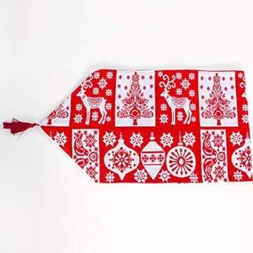 Bestickter Tischläufer für Weihnachtsdekoration, Weihnachtsdekoration, Weihnachts-Tischwäsche für Weihnachtsdekoration, Heimtischdecke, dekorativ - 1
