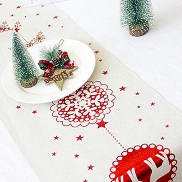 Blanketswarm Weihnachtstischläufer, Weihnachtstischwäsche, Tischdecke, Tischdecke für Familienessen, Party, Zuhause, Urlaub, Dekoration, 28 x 270 cm - 2