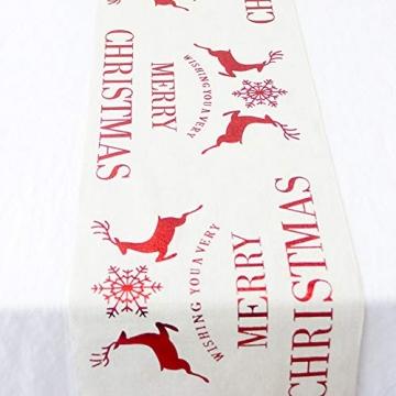 Blanketswarm Weihnachtstischläufer, Weihnachtstischwäsche, Tischdecke, Tischdecke für Familienessen, Party, Zuhause, Urlaub, Dekoration, 28 x 270 cm - 3