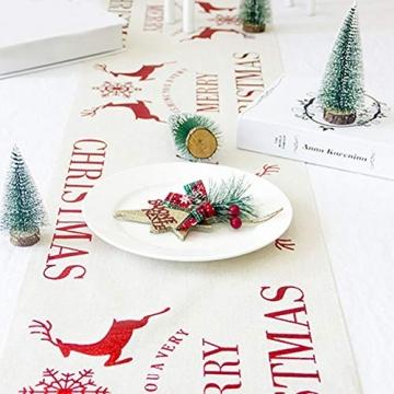 Blanketswarm Weihnachtstischläufer, Weihnachtstischwäsche, Tischdecke, Tischdecke für Familienessen, Party, Zuhause, Urlaub, Dekoration, 28 x 270 cm - 4