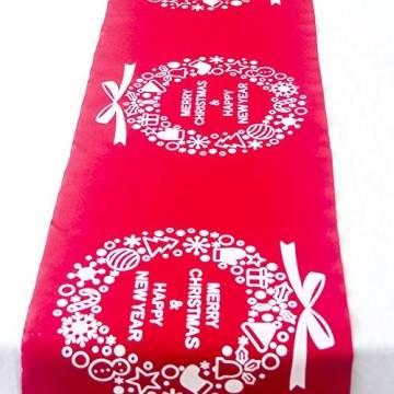 Blanketswarm Weihnachtstischläufer, Weihnachtstischwäsche, Tischdecke, Tischdecke für Familienessen, Party, Zuhause, Urlaub, Dekoration, 28 x 270 cm - 1