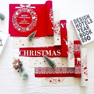 Blanketswarm Weihnachtstischläufer, Weihnachtstischwäsche, Tischdecke, Tischdecke für Familienessen, Party, Zuhause, Urlaub, Dekoration, 28 x 270 cm - 5