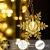 BLOOMWIN 2x1M Schneeflocken Lichtervorhang Warmweiß, USB Weihnachtesbeleuchtung 8Modi Lichterkettenvorhang 104LEDs Stimmungslichter für Balkon, Fenster, Hochzeit, Weihnachten IP44 Lichterkette - 4