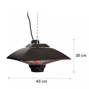 blumfeldt Heat Square - Infrarot-Heizstrahler mit Fernbedienung, Terrassen-Heizstrahler, 1000/2000 Watt, IR ComfortHeat Technologie, LED, schwarz - 7