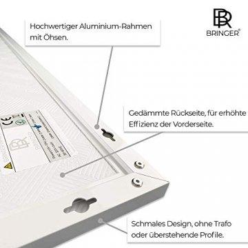 Bringer Infrarotheizung Infrarot Wandheizung Heizung Heizkörper Thermostat (1200 Watt, Heizplatte und Thermostat mit Fernbedienung (BRTF)) - 3