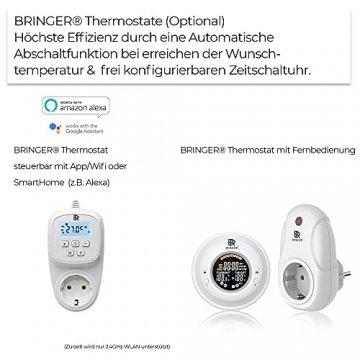 Bringer Infrarotheizung Infrarot Wandheizung Heizung Heizkörper Thermostat (1200 Watt, Heizplatte und Thermostat mit Fernbedienung (BRTF)) - 4