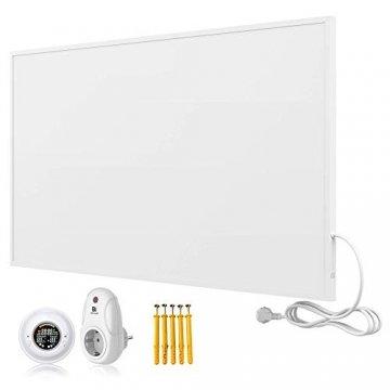 Bringer Infrarotheizung Infrarot Wandheizung Heizung Heizkörper Thermostat (1200 Watt, Heizplatte und Thermostat mit Fernbedienung (BRTF)) - 1