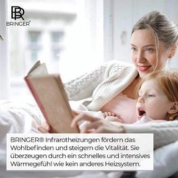 Bringer Infrarotheizung Infrarot Wandheizung Heizung Heizkörper Thermostat (1200 Watt, Heizplatte und Thermostat mit Fernbedienung (BRTF)) - 8