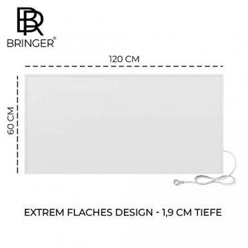 Bringer Infrarotheizung Infrarot Wandheizung Heizung Heizkörper Thermostat (1200 Watt, Heizplatte und Thermostat mit Fernbedienung (BRTF)) - 9