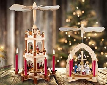 Brubaker 20er Pack Baumkerzen Wachs - Weihnachtskerzen Pyramidenkerzen Christbaumkerzen - Dunkelrot - 5