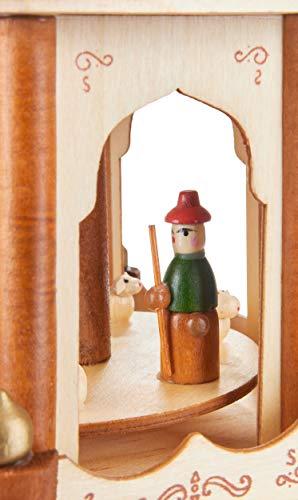 Brubaker Weihnachtspyramide Holzpyramide - Natur - 3 Etagen - 45 cm Höhe - handbemalte Figuren - 6