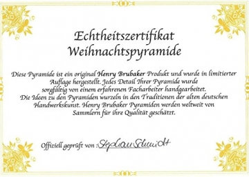 Brubaker Weihnachtspyramide Holzpyramide - Natur - 3 Etagen - 45 cm Höhe - handbemalte Figuren - 7